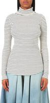 NSF Striped turtleneck cotton-blend jumper