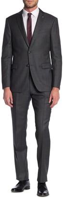 John Varvatos Bleecker Check Jacket & Pants 2-Piece Trim Fit Suit
