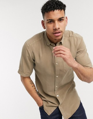 ONLY & SONS shirt in short sleeve beige
