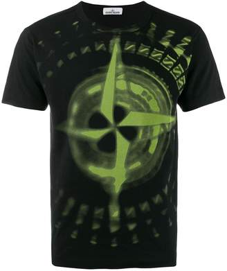Stone Island airbrush print T-shirt