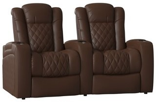Red Barrel Studioâ® Continental Recliner Home Theater Row Seating (Row of 2) Red Barrel StudioA Body Fabric: Ultra Camel