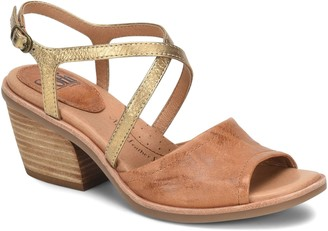 Sofft Peep-Toe Leather Sandals - Piara