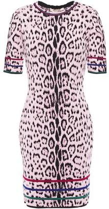 Roberto Cavalli Leopard-jacquard Mini Dress