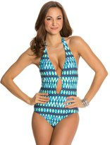 Kenneth Cole Ikat In The Act Halter One Piece Swimsuit 8123551