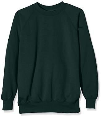 J Masters Schoolwear Boy's Unisex Crew Neck School Sweatshirt Jumper, Grey), (Size:38)