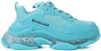 Balenciaga Turquoise Triple S Sneakers