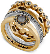 Lucky Brand Two-Tone Colored Pavé and Stone Stackable Ring
