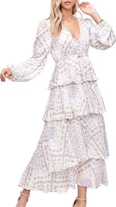 En Saison Paisley Long Sleeve Midi Dress