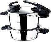 Fissler Vitavit Edition 630-301-12-070/0 Pressure Cooker Set 22 cm (Set of 2 - 2.5 Litres and 6 Litres)