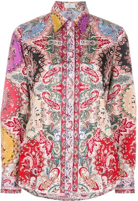 Etro Paisley Print Slim-Fit Shirt