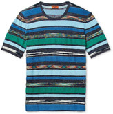 Missoni - Slim-fit Space-dyed Terry-panelled Cotton And Linen-blend T-shirt