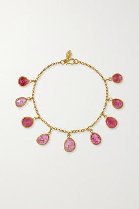 Pippa Small 18-karat Gold Ruby Bracelet - one size