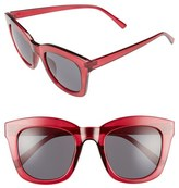 BP Women's 50Mm Mirror Square Sunglasses - Burgundy