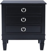 The Well Appointed House Paris Three Drawer Night Stand in Navy