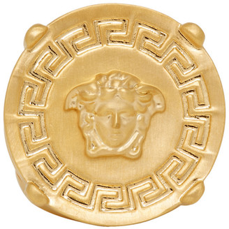 Versace Gold Round Medusa Greek Ring