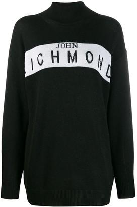 John Richmond Cufra intarsia logo sweater