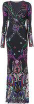 Roberto Cavalli paisley print fitted gown