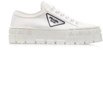 Prada Logo-Detailed Nylon Platform Sneakers