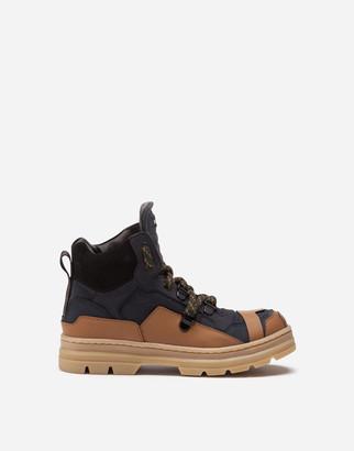 Dolce & Gabbana Suede And Calfskin Trekking Boots