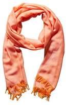 Chanel Orange Cashmere Stole.