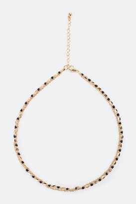 francesca's Meeci Metal Beaded Choker - Black