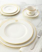Pickard Ultra-White Script Monogram Dinner Plate