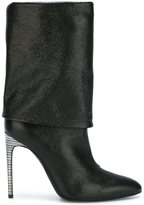 Pollini high heel fold over boots