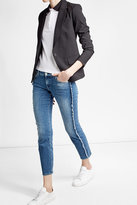 7 For All Mankind Frayed Cropped Straight Jeans