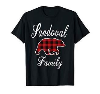 SANDOVAL Family Bear Plaid Christmas Pajama Gift T-Shirt