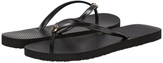 Tory Burch Thin Flip Flop (Black/Black) Women's Sandals