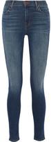 J Brand Maria High-rise Skinny Jeans - Mid denim
