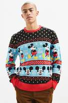 Urban Outfitters Mickey Mouse Fair Isle Sweater