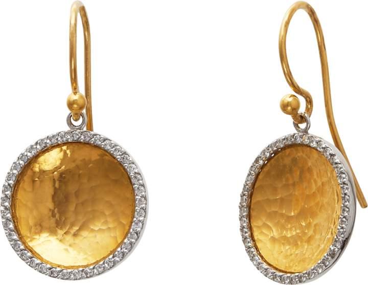Gurhan Small Hourglass Diamond Drop Earrings