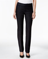 Charter Club Petite Lexington Tummy-Control Straight-Leg Pants, Only at Macy's