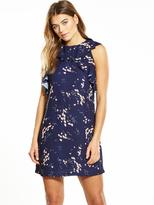 Fashion Union Floral Frill Dress - Navy
