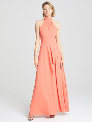 Halston Mock Neck Gown