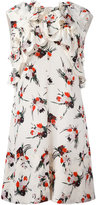Marni ruffle printed dress - women - Silk - 40