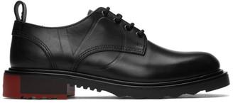 Valentino Black Garavani V-Logo Leather Derbies