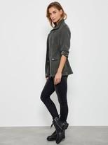 Mint Velvet Studded Tencel Jacket - Khaki