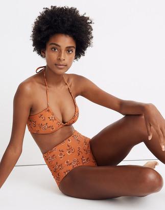 Madewell x Warm Bandeau Bikini Top in Honolulu Hibiscus