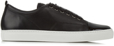 Lanvin Capped-toe low-top leather trainers