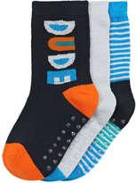 Joe Fresh Toddler Boys' 3 Pack Dinosaur Print Socks, Blue (Size 3-5)