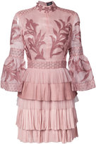J. Mendel embroidered mini dress - women - Silk - 8