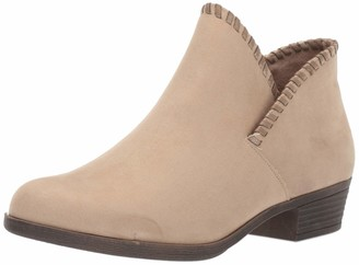 Rampage Women's Tametha Western Ankle Bootie with Whip Stitch Upper Design Boot