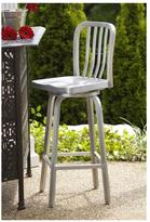 Home Decorators Collection Sandra Swivel Bar Stool in Brushed Aluminum