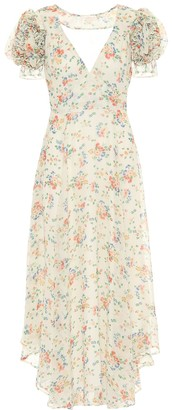 LoveShackFancy Clemence floral silk midi dress