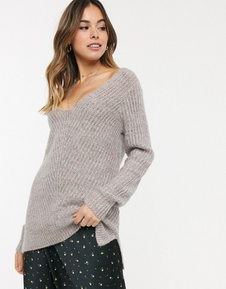 Abercrombie & Fitch knitted sweater in rib