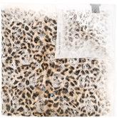 Alexander McQueen leopard print skull scarf - women - Silk - One Size