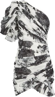 Alexandre Vauthier Floral Print One-Shoulder Cotton Dress