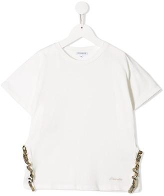 Simonetta sequin trim T-shirt